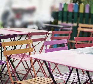 Kleurrijke Cafe Stoelen