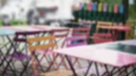 Colorful Cafe Chairs