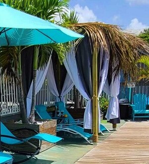 cabana on the dock