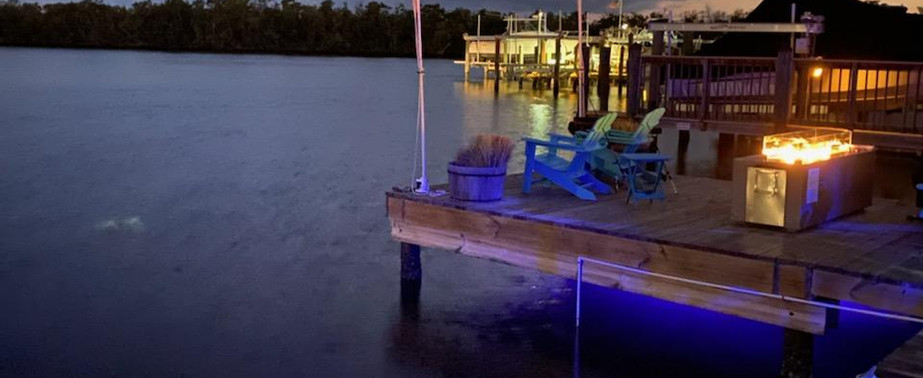night at the dock