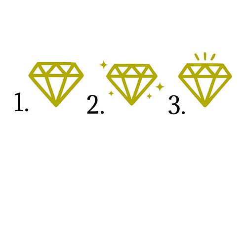 Diamanter olika modeller