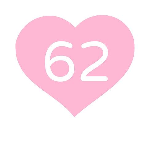 Storlekstryck hjärta rensad