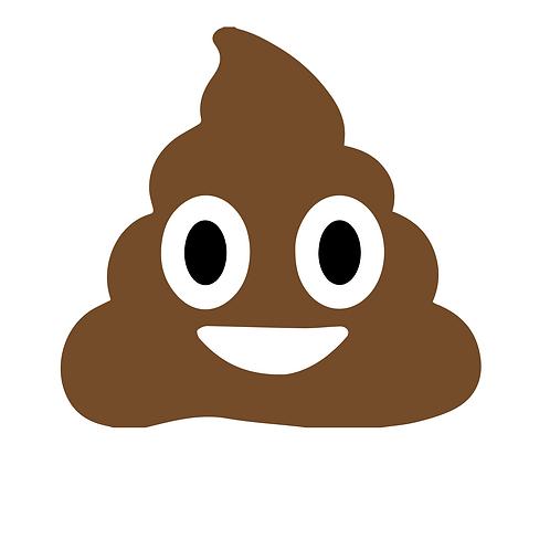 Poop, flerfärgstryck skyltdekal