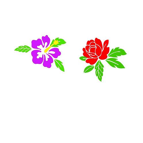 Blomma 1, skyltdekal
