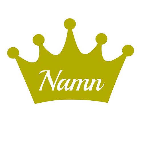 Krona med valfri text, väggdekal