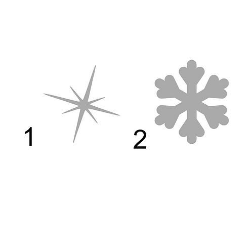Snöflinga 1, textiltryck