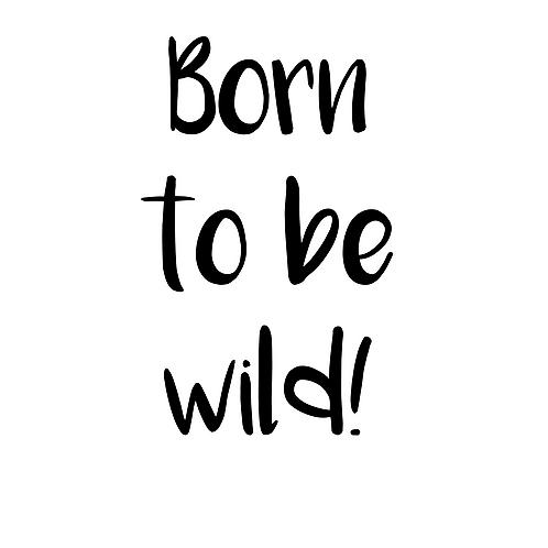 Born to be wild, väggdekal