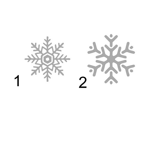 Snöflingor 2, 5 - pack, skyltdekal