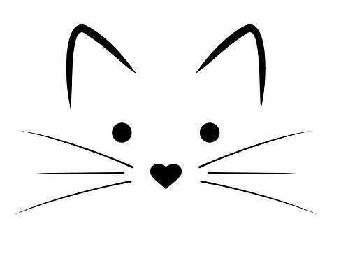 Katt väggdekal