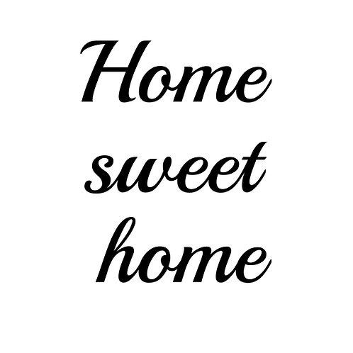 Home sweet home passande till glasblock