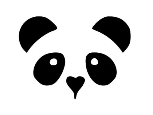 Panda, väggdekal