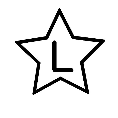 Storlekstryck stjärna rensad