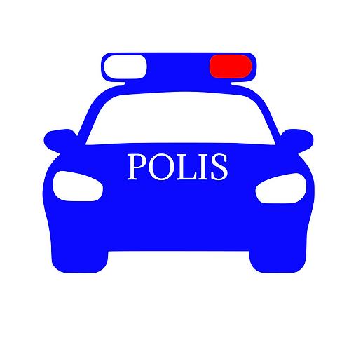 Polisbil flerfärgstryck