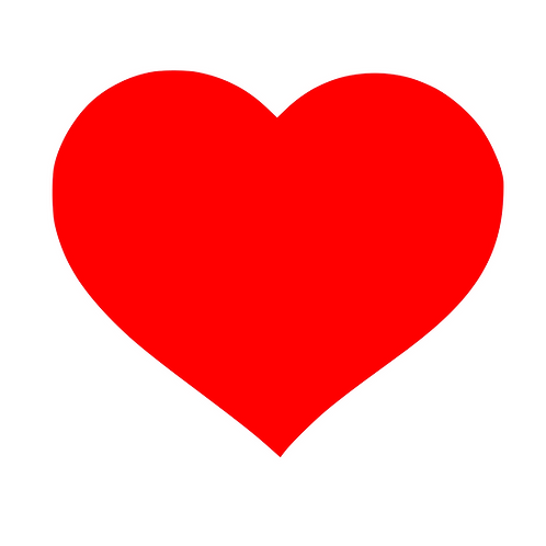 Hjärta, skyltdekal