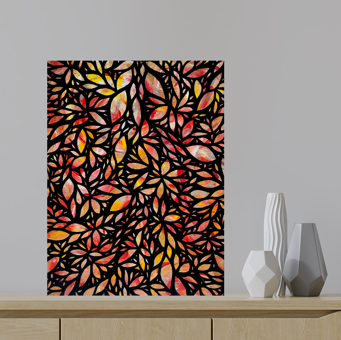Untitled orange stained glass