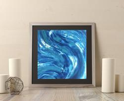 Blue Swirl 8x8in  $35