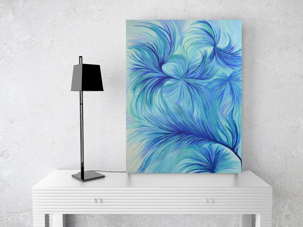 Blue Flow 1 18x24in $1750
