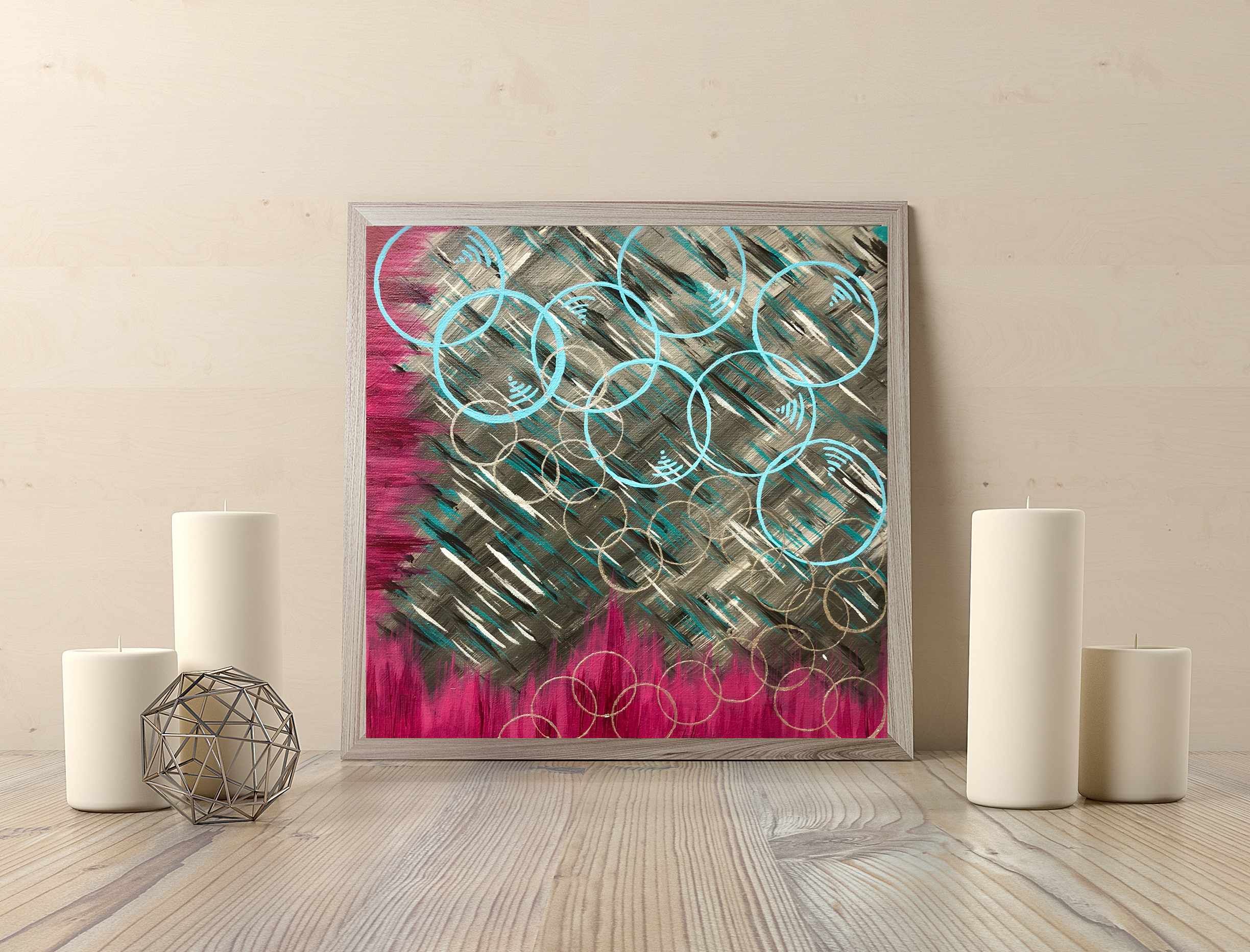 bubbles bubbles $55 12x12in