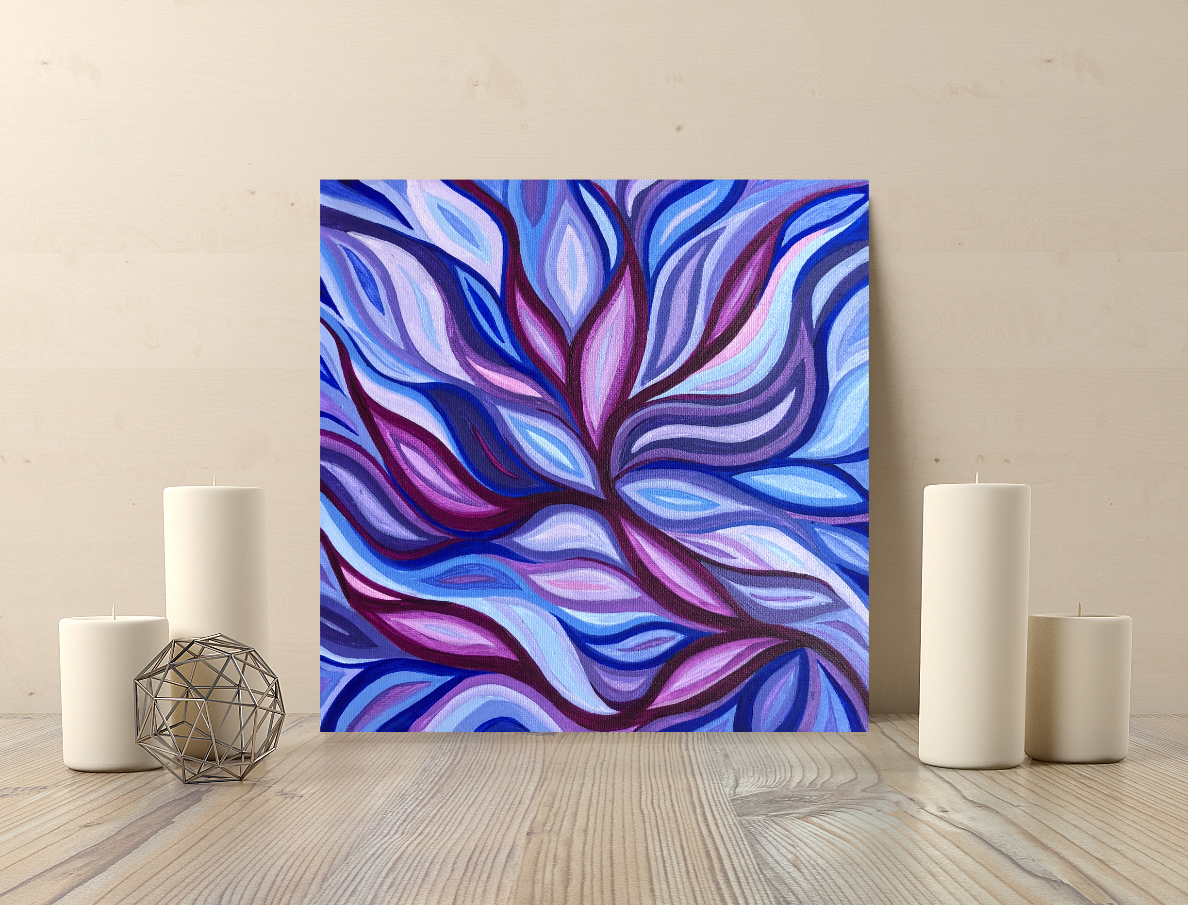 purple lotus 10x10in