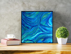 blue night swirl $65