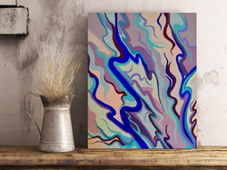 Purple Lines 16x20in