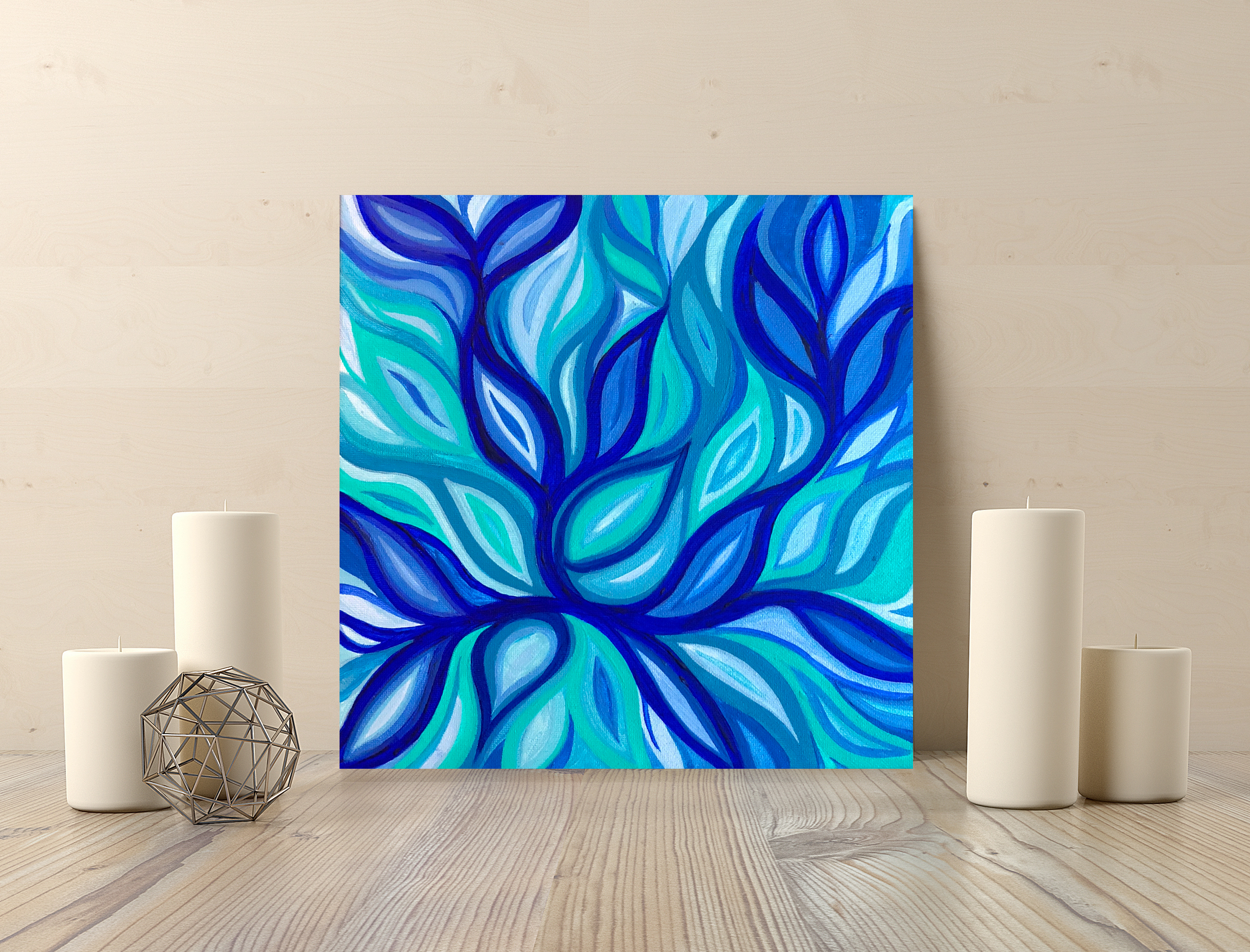 tropical lotus 10x10in SOLD