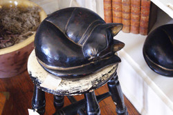 Victorian Wooden Carved Cat