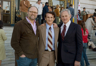 Jon Moscone (son of George Moscone), Sean Penn and Victor Garber (as George Moscone) - March 2, 2008