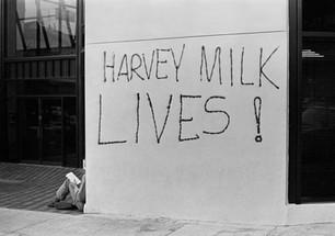 Harvey Milk lives grafitti on Castro Street - May 22, 1978