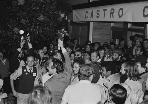 Harvey Milk's Victory Celebration at Castro Camera,  November 8, 1977