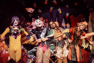 "Angels of Light show ""Inferno Reason"" (l to r: David Flatley, Gregory Cruikshank, Steven Brown, Lichen) - October 1975"