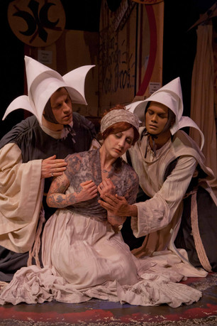 Eric Wertz, Bonni Suval and Michael Mohammed in The Thrillpeddlers production of Marat Sade (Produced by Marc Huestis and directed by Russell Blackwood) - July 10, 2012