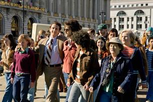 Sean Penn (as Harvey Milk) & Diego Luna (as Jack Lira) - Milk's Inaugural Walk to City Hall, March 22, 2008