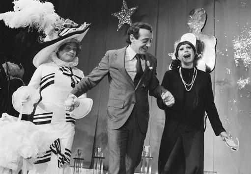 Jose Sárria - Empress 1, Supervisor Harvey Milk and Mavis at the Imperial Court Coronation, October 28, 1978