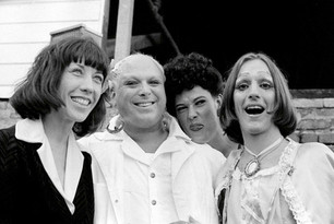 Lily Tomlin, Divine, Sister Ed Luckin, Cockette Pristine Condition at an autograph party for Divine at The Bakery Cafe - 1975