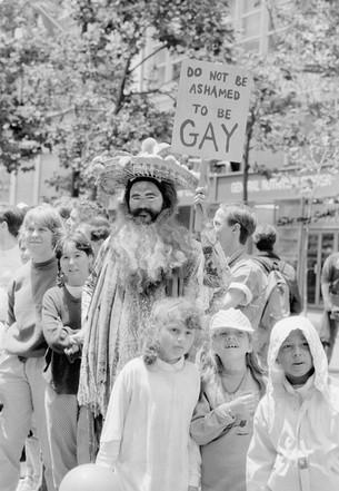 Tahara (Angels of Light) at the SF LGBT Pride Parade - June 1988