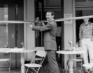 Supervisor Harvey Milk at the Dedication of a Cafe at One United Nations Plaza, March 7, 1978