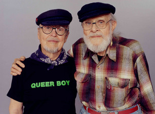 John Burnside and Harry Hay - August 17, 2000