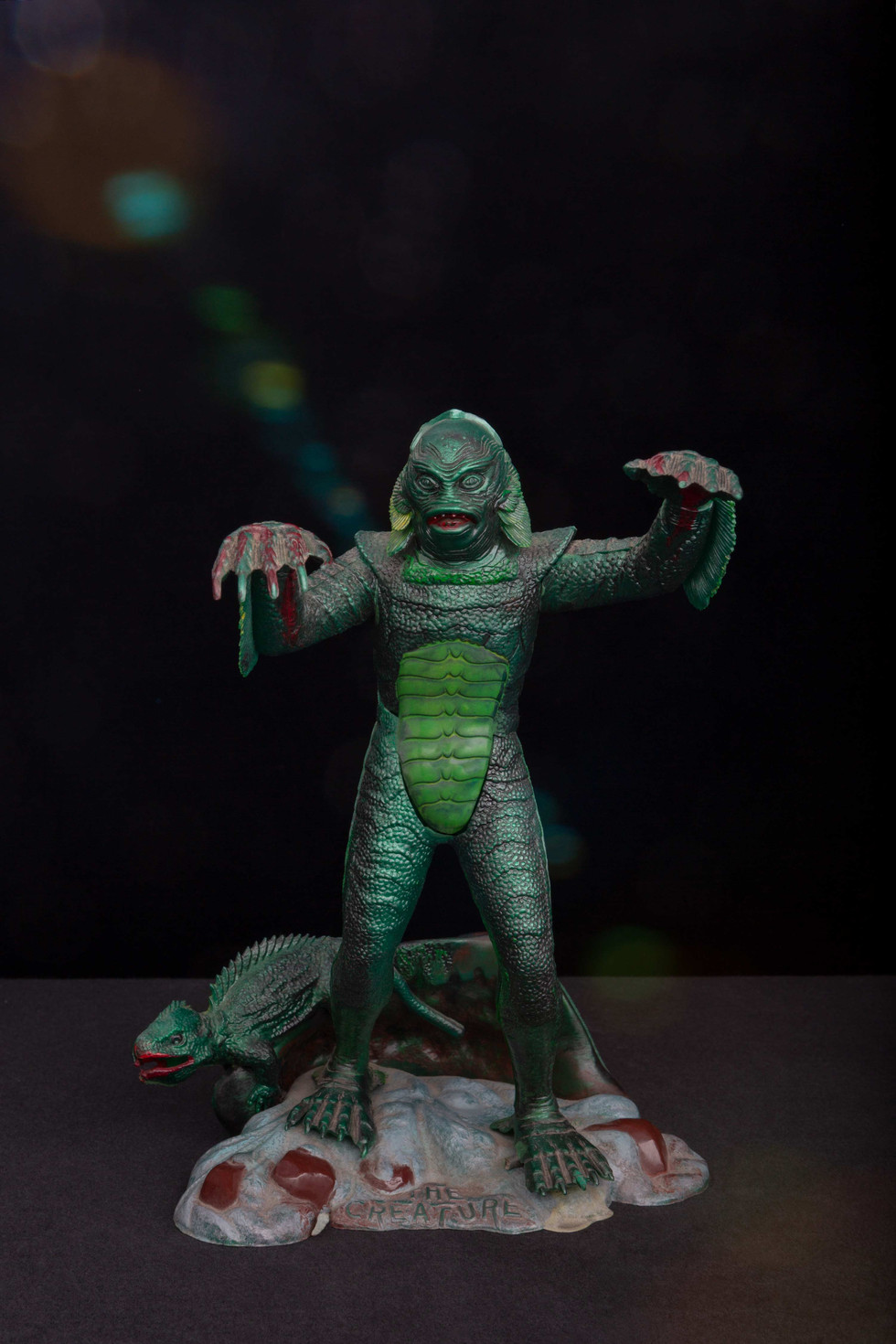 Creature from the Black Lagoon toy model - constructed & hand painted by Dan Nicoletta in the mid - 60s.