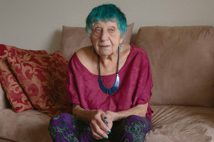 ruth weiss, Dan's last portrait of her - March 8, 2020