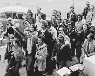 Harvey Milk and supporters Inaugural Walk to SF City Hall - January 9, 1978