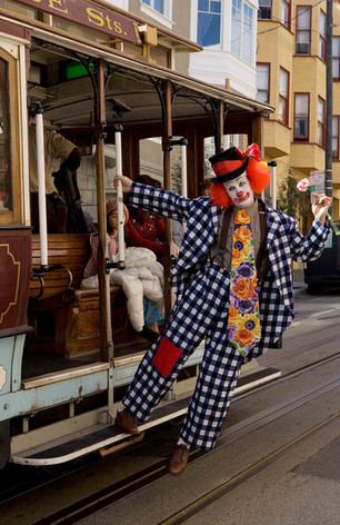 Sean Penn as Harvey as a Ringling Brothers clown for a day (a deleted scene - included in the DVD extras) - March 14, 2008