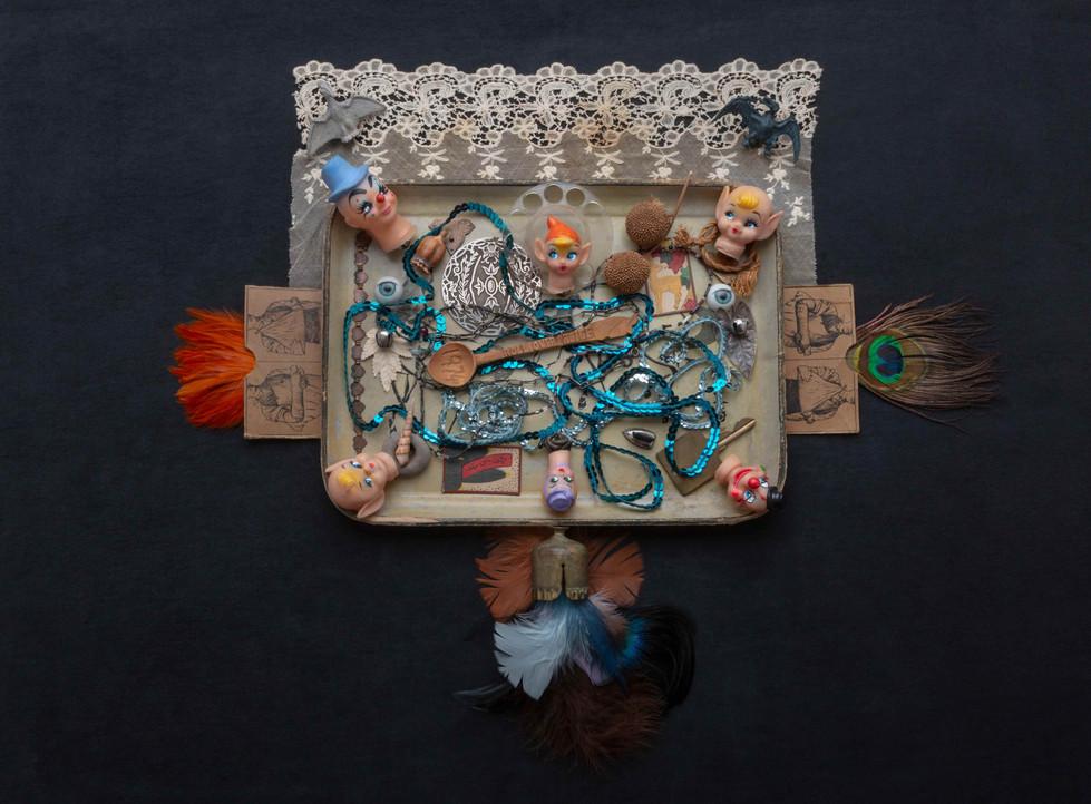 Erik Reckard's fabulous flying machine with the 6 directions - collage from Erik's memorabilia by Daniel Nicoletta.