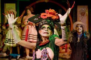 """Rumi Missabu as Madame Gin Sling in the Thrillpeddlers revival of the Cockette show """"Pearls Over Shanghai"""" - June 13, 2009"""