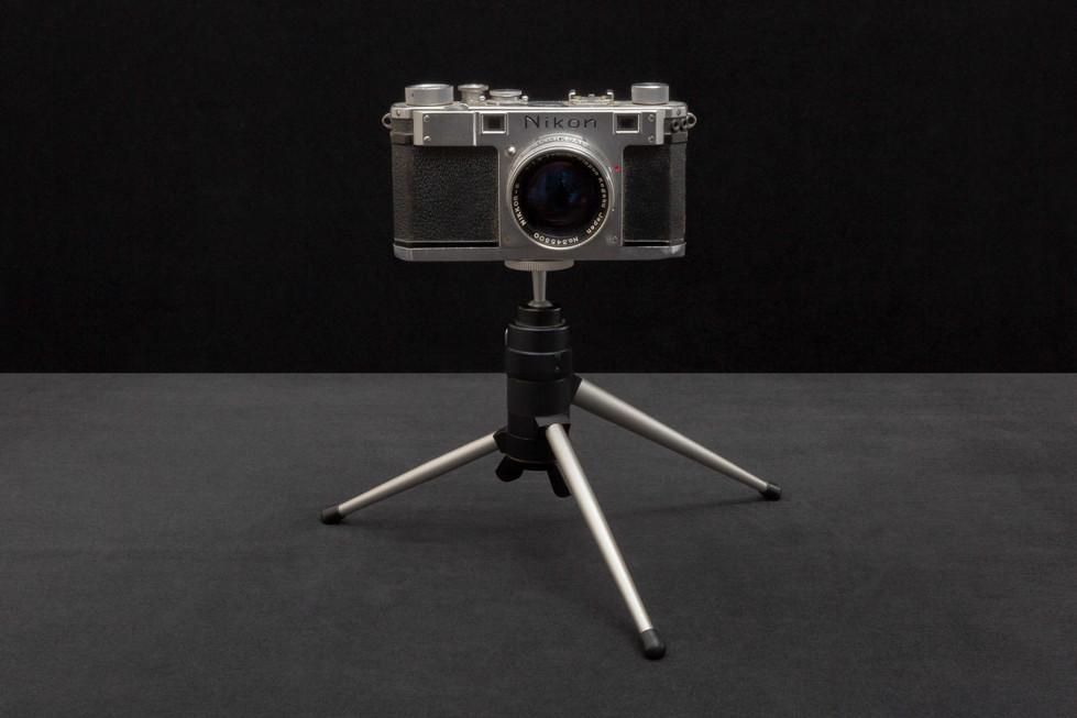 Harvey Milk's first camera a Nikon D2 circa 1953 (Gift of Mrs. Elva Smith to Dan Nicoletta).