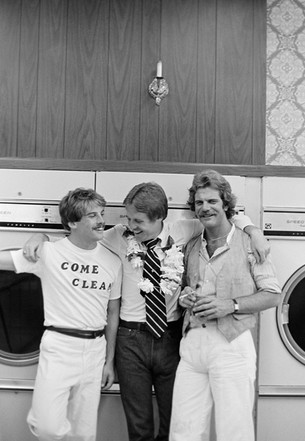 Daniel Katz, Armistead Maupin, Michael Poniatowsky - launch for Tales of the City book,  August 23, 1978