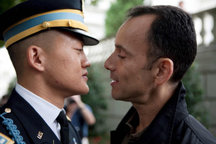 Lt. Dan Choi and friend - LGBT Equality March on Washington D. C. - October 10, 2009