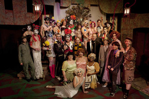 """Sebastian and John Waters and the cast of the Thrillpeddlers revival of the Cockette show """"Pearls Over Shanghai"""" - January 8, 2010"""