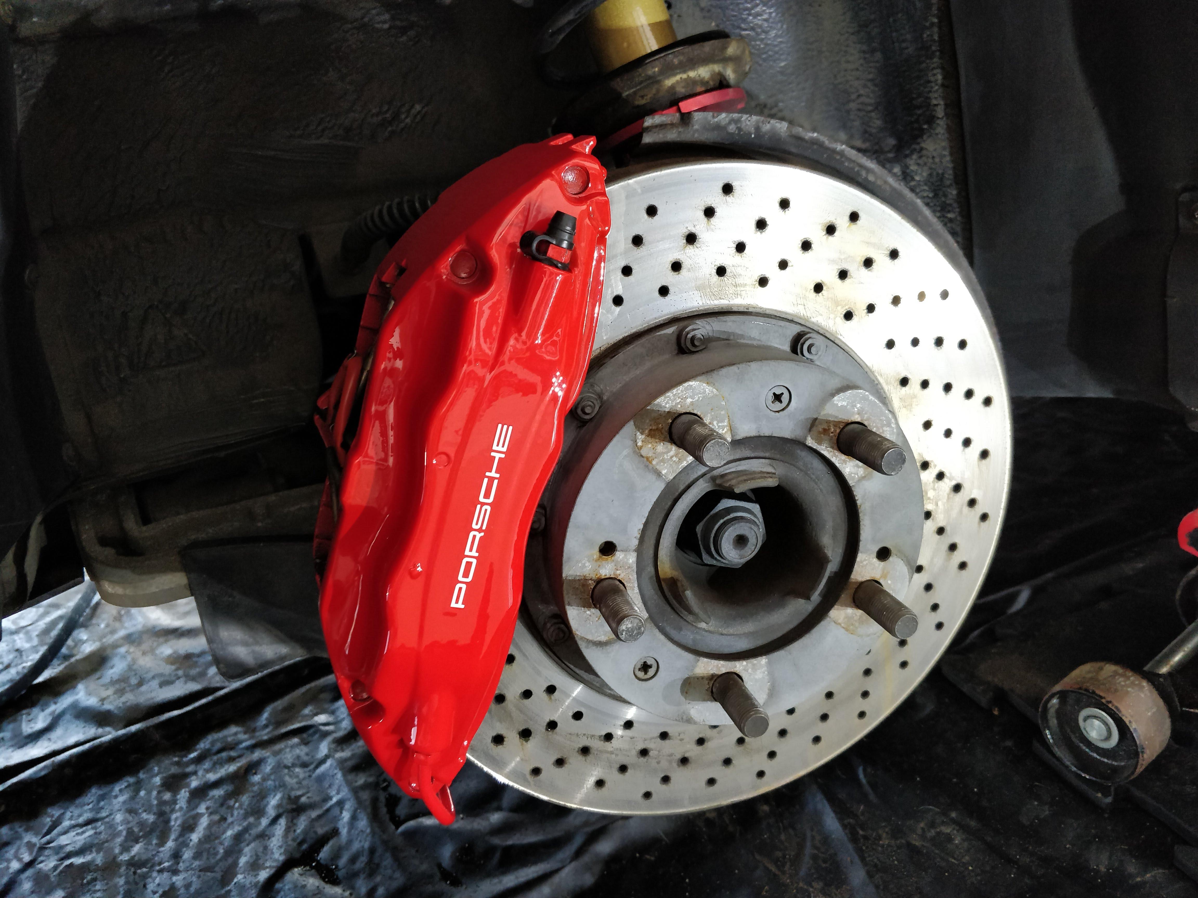 brake cleaning porsche 911