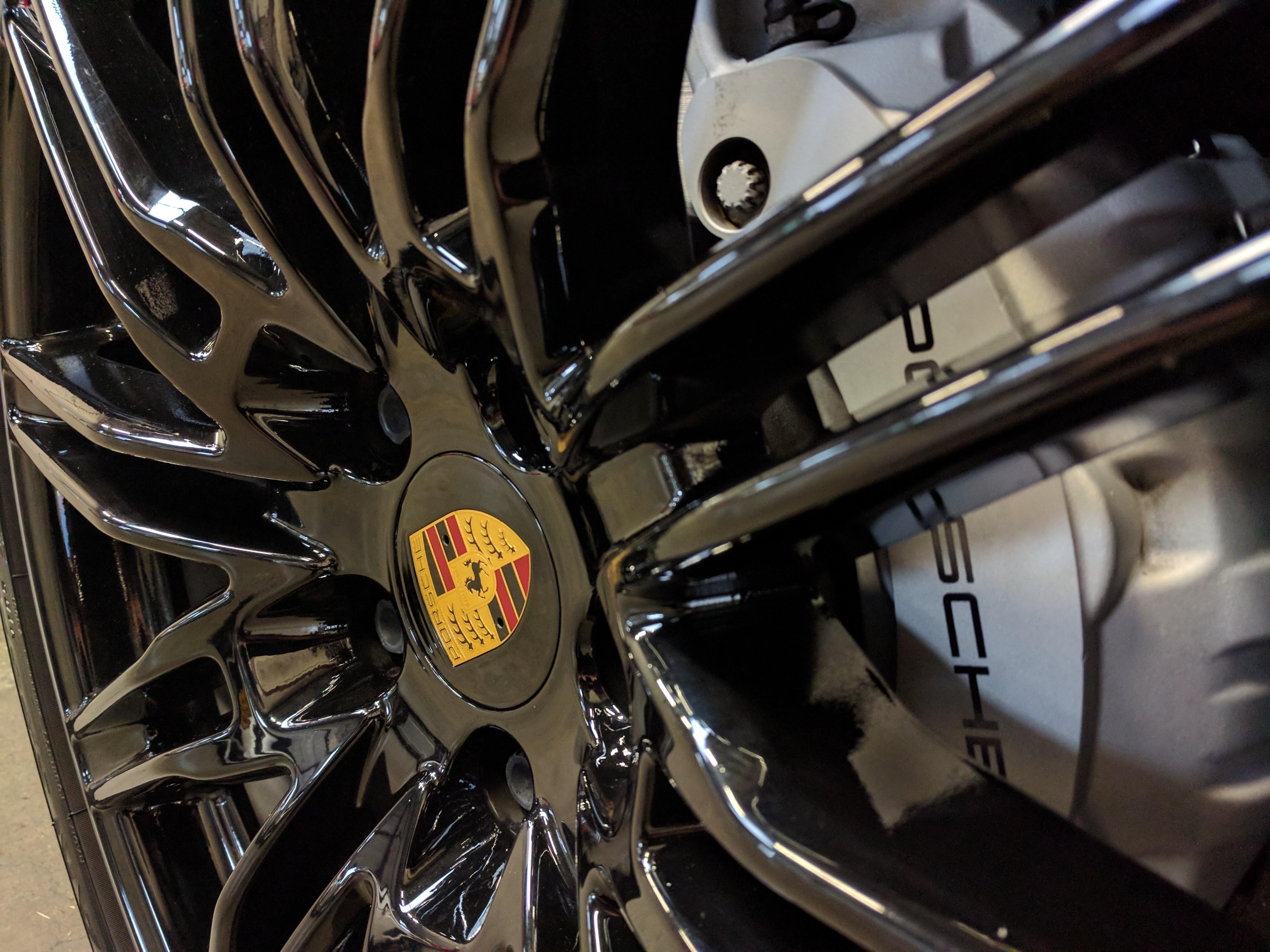 porsche rim and brake cleaning